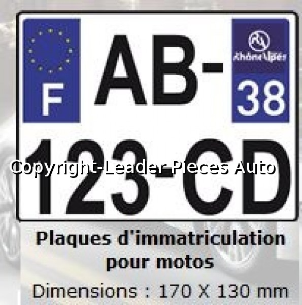 plaque d 39 immatriculation moto nouvelle norme en plexiglass avec logo r gional 210 x 130 mm. Black Bedroom Furniture Sets. Home Design Ideas