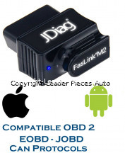 Prise OBD2-EOBD-JOBD de Diagnostics Automobiles Bluetooth